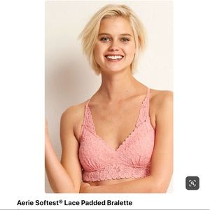 Aerie softest lace padded bralette size large❤️❤️